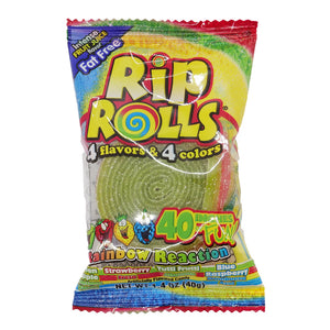 Rip Rolls Rainbow Reaction Licorice Candy - 1.4 oz.