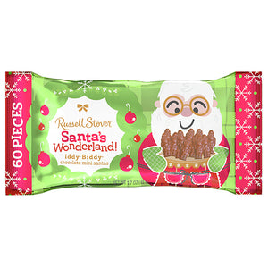 Russell Stover Milk Chocolate Iddy Biddy Santas - 1.7-oz. Bag