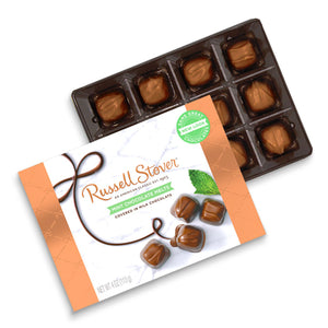 Russell Stover Mint Chocolate Melts Gift Box 4 oz.