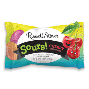 Russell Stover White Fudge Solid Sour Cherry Egg 1 oz.
