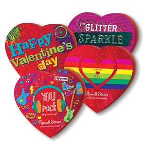 Russell Stover Assorted Chocolates Tween Themed Heart Gift Box 3.5 oz.