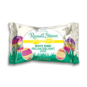 Russell Stover White Fudge Pecan Delight Egg 1 oz.