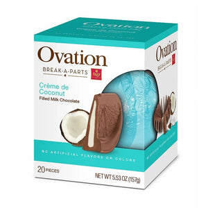 Ovation Milk Chocolate Creme de Coconut Break-A-Part - 5.53 -oz. Sphere