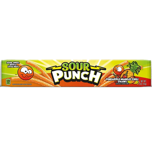 Sour Punch Pineapple Mango Chili Straws - 2-oz. Pack
