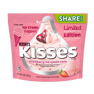 Hershey's Strawberry Ice Cream Cone Kisses - 9-oz. Bag