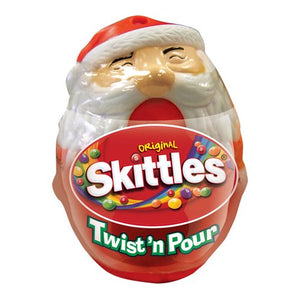 Skittles Bite Size Candies Twist 'n Pour Santa 1.5 oz.