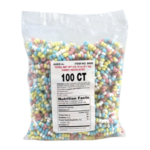 "Smarties Candy Necklaces 10"" - Bulk Bag of 100"