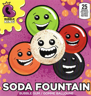 "Bubble King Soda Fountain 1"" Gum Ball 3 lb Bulk Bag"