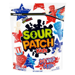 Sour Patch Kids Red, White & Blue Soft & Chewy Candy - 1.9 LB Bag