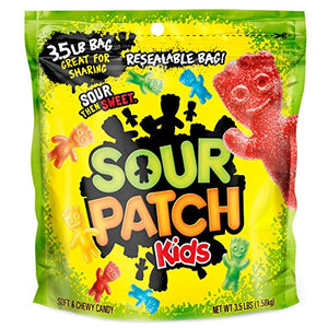 Sour Patch Kids Soft & Chewy Candy - 3.5 LB Resealable Bag