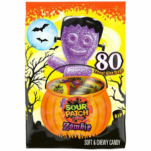 Sour Patch Kids Zombie Soft & Chewy Candy Treat Bags - Bag of 80