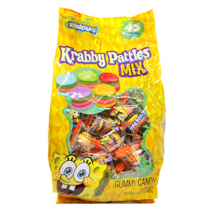 SpongeBob SquarePants Gummy Krabby Patties Candy Mix - Bag of 45