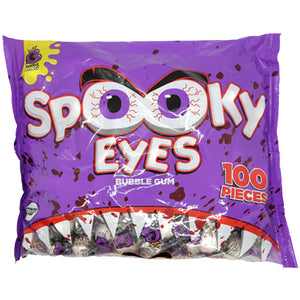 Bubble King Spooky Eyes Bubble Gum - Bag of 100