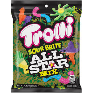 Trolli Sour Brite All Star Mix Gummi Candy - 4.25-oz. Bag