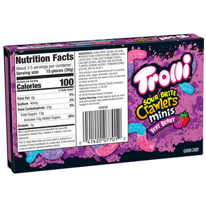Trolli Sour Brite Crawlers Minis Very Berry - 3.5-oz. Theater Box