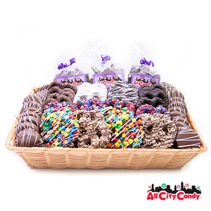 Ultimate Collection Gourmet Chocolate Covered Pretzels & Treats Gift Basket