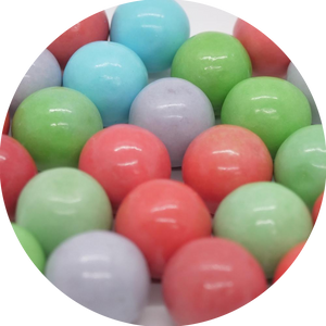 Bubble King Sour Cotton Candy 1-Inch Gumballs - Bulk Bags