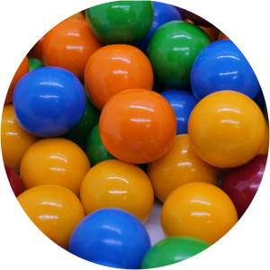 Bubble King Thunderbolts Sour Filled Gumballs - Bulk Bags