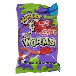Warheads Lil' Worms 1.41-oz. Bag