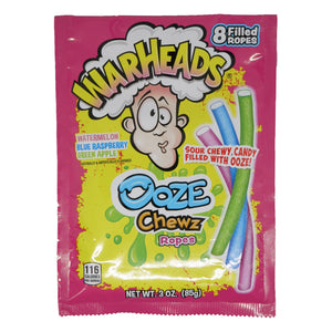 Warheads Ooze Chewz Ropes - 3.0-oz. Bag