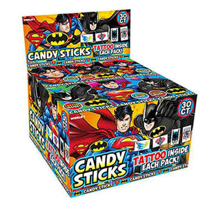 Batman & Superman Candy Sticks - .52-oz. Box