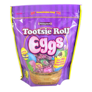 Tootsie Roll Eggs Individually Wrapped - 23-oz. Resealable Bag