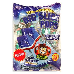 Big Slice Pops Sour Watermelon Lollipops - Bag of 48