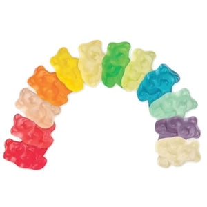 All City Candy 12 Flavor Gummi Bears - 5 LB Bulk Bag Bulk Unwrapped Albanese Confectionery For fresh candy and great service, visit www.allcitycandy.com
