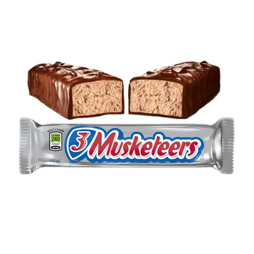 3 Musketeers Candy Bar 1.92 oz. For fresh candy and great service, visit us at www.allcitycandy.com