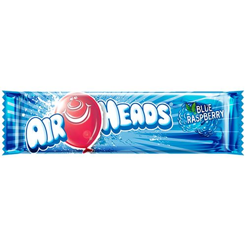 Airheads Blue Raspberry Taffy Bar .55-oz. - 36 Piece Case For fresh candy and great service, visit us at www.allcitycandy.com