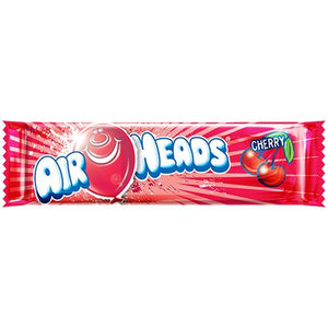 All City Candy Airheads Cherry Taffy Bar .55-oz. - 36 Piece Case Taffy Perfetti Van Melle For fresh candy and great service, visit www.allcitycandy.com