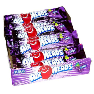 All City Candy Airheads Grape Taffy Bar .55-oz. - Case of 36 Taffy Perfetti Van Melle Default Title For fresh candy and great service, visit www.allcitycandy.com