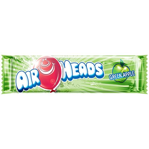 Airheads Green Apple Taffy Bar .55-oz - 36 Piece Case For fresh candy and great service, visit us at www.allcitycandy.com