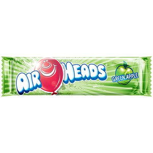 All City Candy Airheads Green Apple Taffy Bar .55-oz - 36 Piece Case Taffy Perfetti Van Melle For fresh candy and great service, visit www.allcitycandy.com