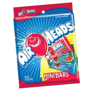 All City Candy Airheads Mini Bars - 4.2 oz Bag Taffy Perfetti Van Melle Default Title For fresh candy and great service, visit www.allcitycandy.com