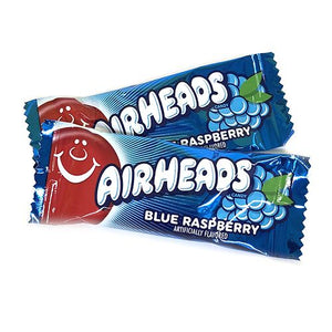 All City Candy Airheads Mini Blue Raspberry Taffy Bars - 3 LB Bulk Bag Bulk Wrapped Perfetti Van Melle For fresh candy and great service, visit www.allcitycandy.com