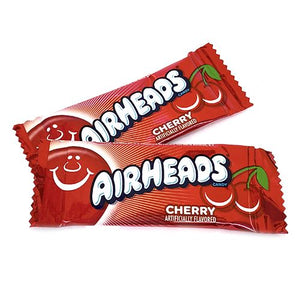 All City Candy Airheads Mini Cherry Taffy Bars - 3 LB Bulk Bag Bulk Wrapped Perfetti Van Melle For fresh candy and great service, visit www.allcitycandy.com