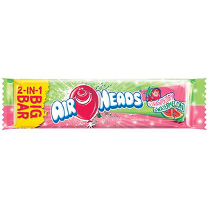All City Candy Airheads Strawberry & Watermelon 2-in-1 Big Bar 1.5-oz. Taffy Perfetti Van Melle 1 Bar For fresh candy and great service, visit www.allcitycandy.com