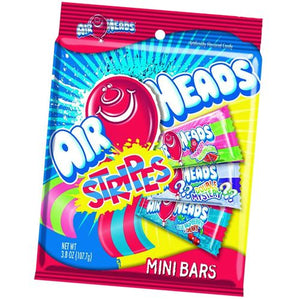 All City Candy Airheads Stripes Assorted Taffy Mini Bars - 3.8 oz Bag Chewy Perfetti Van Melle 1 Bag For fresh candy and great service, visit www.allcitycandy.com