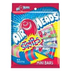 All City Candy Airheads Stripes Assorted Taffy Mini Bars - 6.08-oz. Bag Taffy Perfetti Van Melle Default Title For fresh candy and great service, visit www.allcitycandy.com