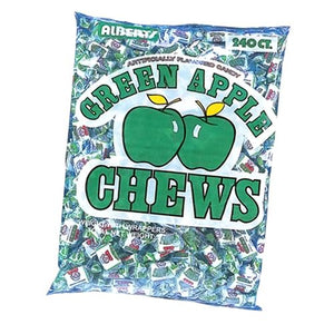 All City Candy Albert's Green Apple Chews Candy - 240 Piece Bag Chewy Albert's Candy Default Title For fresh candy and great service, visit www.allcitycandy.com