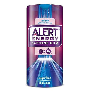All City Candy Alert Energy Caffeine Gum Mint - 8-Piece Pack Gum/Bubble Gum Wrigley For fresh candy and great service, visit www.allcitycandy.com