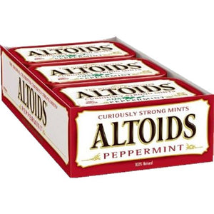 All City Candy Altoids Mints Peppermint - 1.76-oz. Tin Mints Wrigley Case of 12 For fresh candy and great service, visit www.allcitycandy.com