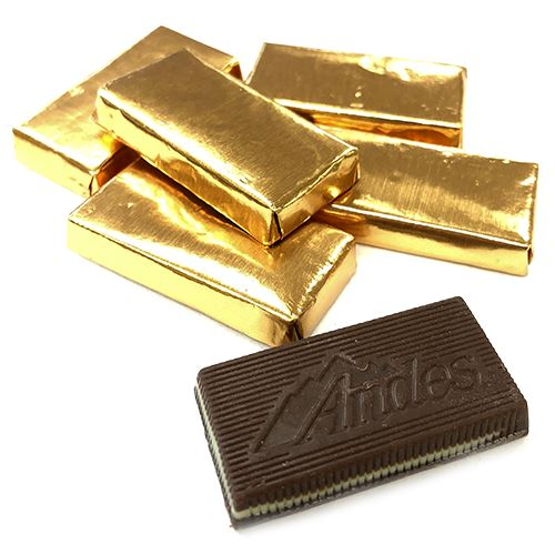 1f0019c7852 All City Candy Andes Gold Foil Creme De Menthe Thins in Bulk Bulk Wrapped  Charms Candy
