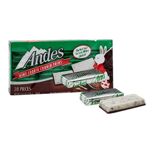 All City Candy Andes Mint Cookie Crunch Thins - 4.67-oz. Box Chocolate Charms Candy (Tootsie) For fresh candy and great service, visit www.allcitycandy.com