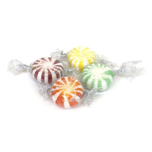 All City Candy Assorted Fruit Spinners Hard Candy - 5 LB Bulk Bag Bulk Wrapped Quality Candy Company For fresh candy and great service, visit www.allcitycandy.com