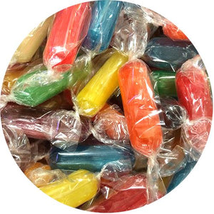 All City Candy Assorted Hard Candy Rods - 3 LB Bulk Bag Bulk Wrapped Primrose Candy Default Title For fresh candy and great service, visit www.allcitycandy.com