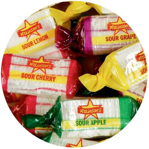 All City Candy Assorted Sours Hard Candy - 3 LB Bulk Bag Bulk Wrapped Atkinson's Candy Default Title For fresh candy and great service, visit www.allcitycandy.com