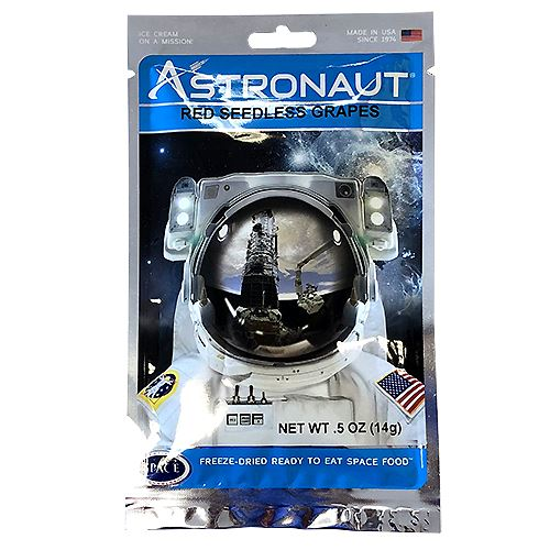 Astronaut Freeze-Dried Red Seedless Grapes .5 oz. For fresh candy and great service, visit us at www.allcitycandy.com