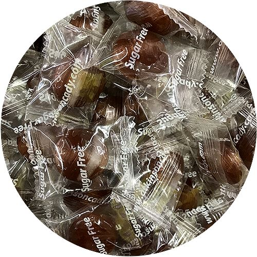 Atkinson's Sugar Free Root Beer Buttons Hard Candy - 2 LB Bulk Bag For fresh candy and great service, visit us at www.allcitycandy.com